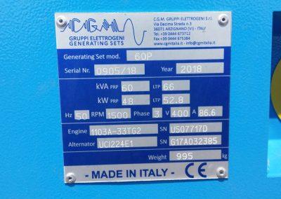 generator 60 kVA - ferma Cataloi